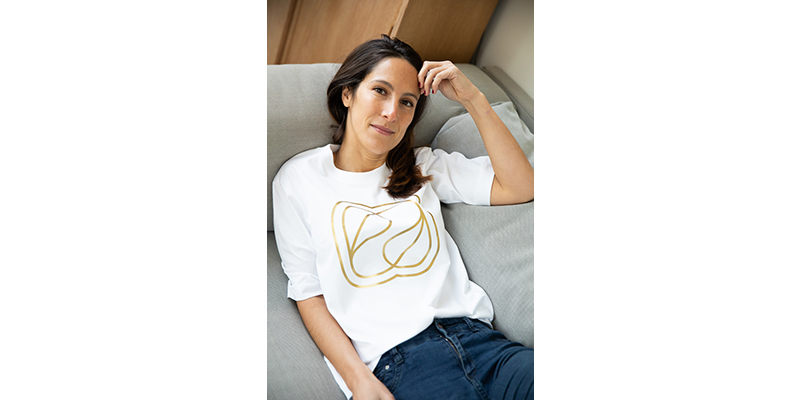 Lea gold t-shirt
