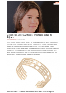 Inteview of the jewellery designer Enora Antoine on Fashion United