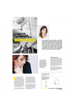 Inteview of the jewellery designer Enora Antoine on Dklikk Magazine