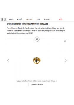My Louise ring in the ELLE Belgique