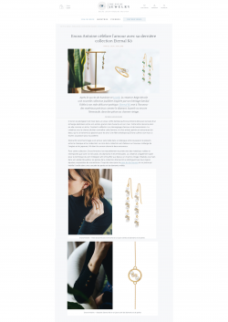 Enora Antoine on the luxury fine jewelry magazine the eye of jewelry